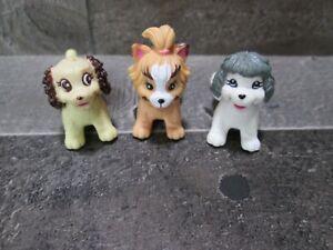 Vintage Barbie ? Magnetic Puppy Dog Toy Figure Moveable Head Back Leg Lot 3 Pet
