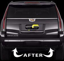 2015 - 2019 Cadillac Escalade Rear Bumper Reflector Blackout Lens Cover Kit
