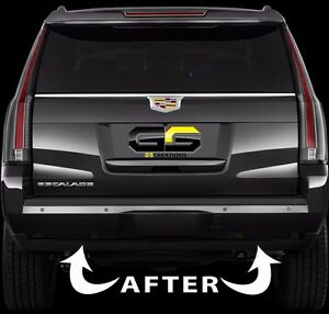 2015 - 2019 Cadillac Escalade Rear Bumper Reflector Blackout Lens Cover Kit