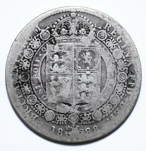 1888, UK, 1/2 Crown, Victoria, Silver, VG, KM# 764, Lot [1371]