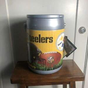 Picnic Time NFL Can Cooler Insulated 2 Gallon 10 Can Pittsburgh Steeler Football