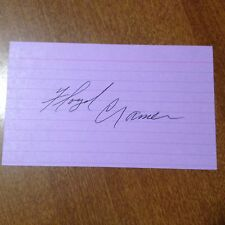 Floyd Cramer 1933-1997 Pianist Autographed 3x5 Index Card Autograph Signed