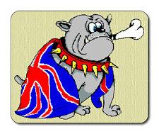 Cartoon, British Bulldog Mouse Mat - Union Jack Flag