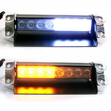 Amber White LED Emergency Recovery Strobe Warning Flashing Car Truck Dash Light