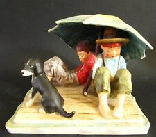 HUMMEL GOEBEL FIGURINE GROUP OF BOYS RESTING NORMAN ROCKWELL 217 from 1963