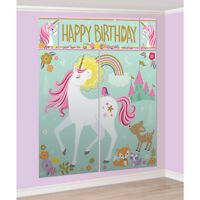 Magical Unicorn Party Photo Wall Scene Setter Backdrop Decoration ++ Photo Props