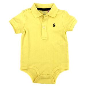 RALPH LAUREN Yellow Babygrow Bodysuit Romper Baby Boys Age 9 Months