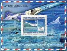 Concorde on Stamps, Aviation (England) s/s Guinea 2009 MNH Mi Bl.1764 #GU0976b