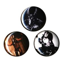 Bathory Set of 3 Buttons-Pins-Badges * Scandinavian Black Metal * Quorthon