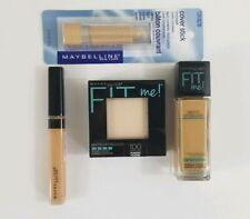 Lot of 4 MAYBELLINE FIT ME Poreless Foundation+Powder+Concealer+Cover Stick