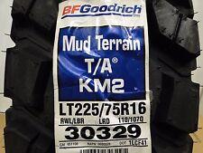 1 NEW LT225/75R16 110/107Q TL MD/TR T/A KM2 LRD BF GOODRICH - MUD TERRAIN