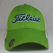 Titleist A Flex Fitted Baseball Cap Hat Size S/M Green White Golf