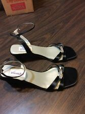 size 9 AA GLORY by DYEABLES Dressy SHOES - new - black, open toe & heel