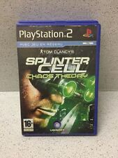 JEUX PS2 SPLINTER CELL CHAOS THEORY TOM CLANCY'S SANS  NOTICE PLAYSTATION