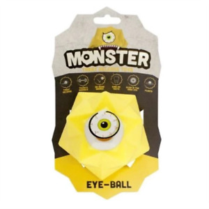 MONSTER TREAT RELEASE TOY EYE BALL - YELLOW
