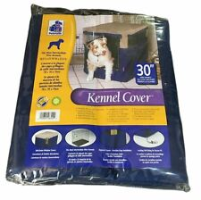 "Petmate 30"" Kennel Cover Cloth for Wire Dog Crate 30.5 x 21.75 x 27.5 BLUE"
