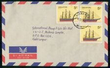 MayfairStamps Singapore 1984 Clipper Ship to Kuala Lumpur Air Mail Cover wwk5066
