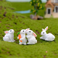 Durable Resin Rabbit Figurine Miniature Bonsai Fairy Garden Ornament Bunny