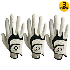 3X Men's Golf Gloves Left Right Handed Cabretta Leather All Weather Winter Sale