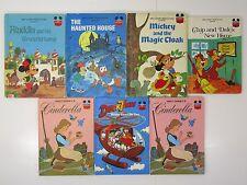 #25 lot of 7 Wonderful World Reading Disney books cinderella mickey aladdin chip