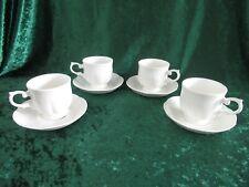 4 Sets of Block Windsor Bone China Cups & Saucers