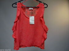 Zara Lace Casual Sleeveless Tops & Shirts for Women