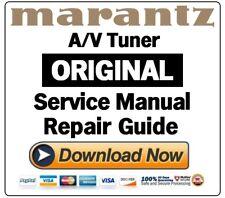 Marantz AV7704 AV Pre Tuner Service Manual and Repair Guide
