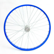 """24"""" Trailer / Tricycle Wheel Keyed-Axle Drive Aluminum Rim Blue New"""