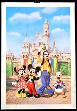 Original Vintage Mickey Castle ART Disneyland Charles Boyer Poster Disney New