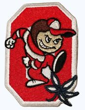 Ohio State Patch Iron On Buckeyes 3x2 Free fast ship from Usa for hats clothing