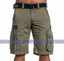 Affliction Windtalkers 110WS133 New Military Green Cargo Shorts for Men