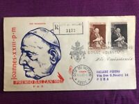 VATICANO 1963 FDC Venetia  N°73/V  PREMIO BALZAN PER LA PACE VIAGGIATE