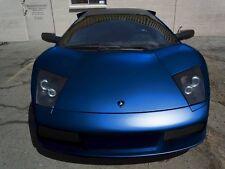"""Blue satin matte chrome 1ft x 60"""" conform car wrap vinyl 3MIL roll sticker"""