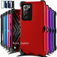 For Samsung Galaxy Note 20/ 20 Ultra Shockproof Defender Case Cover Belt Clip