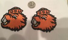 """(2)-OSU Oregon State Beavers vintage iron on embroidered patches  3"""" x  3"""""""