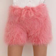 SUPERTANYA PINK Hand Knitted Mohair Underwear Fuzzy Pants Handmade Shorts