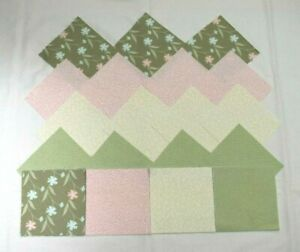 SOFT GREEN, PEACH & CREAM FLORAL CHARM PACK 5 Inch Quilt Squares (40)
