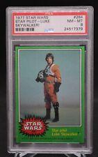 Star Wars Series 4 Green Border 1977 #264 Star Pilot Luke Skywalker Psa 8 Nm Mt