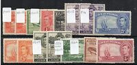 Cayman Islands 1938-48 vals to 5s + perf and shade variations MLH