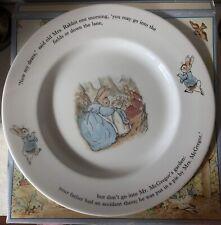 Peter Rabbit Dinner Plate 'Now My Dears' Wedgwood England 1993