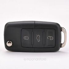 Practical 3 Buttons Remote Flip Key Shell Case Replacement for VW Volkswagen 603