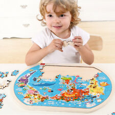 Wooden Puzzle World Map for Kids Jigsaw Geography Toy Educational Toy Game