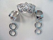 US Seller-7 pcs Scarf ring wholesale beads and slide tube bail set