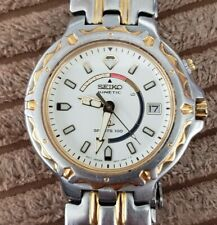 MEN'S SEIKO SPORTS 100 KINETIC WITH DATE TWO TONE WATCH #232