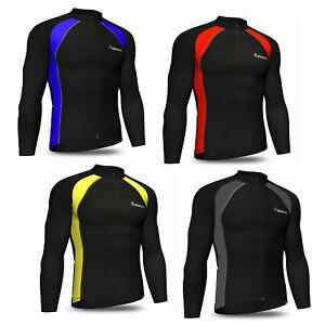 Didoo Mens Long Sleeve Cycling Jersey Thermal Full Zip Winter Sports Racing Top