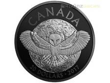 20 $ $ Nocturnal by Inodore Fienile Owl Barbagianni Canada 1 oncia d'argento