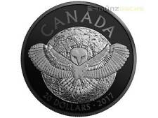 20 $ Dollar Nocturnal by Nature Barn Owl Schleiereule Kanada 1 oz Silber 2017