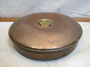 Antique Copper Bottle Bed Foot Warmer Primitive Hot Water Primitive