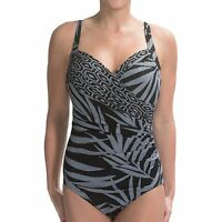 NWT New MIRACLESUIT Sanibel Underwire One Piece Swimsuit Mix to Match Slate  10