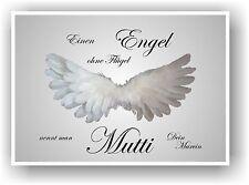 Geschenkidee Muttertag Mutter Geschenk Mutti Engel Flügel personalisiert NEU